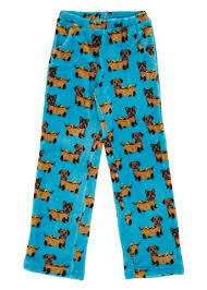 Hot Dog Weiner Dog Fleece Pajama PJ Pants Size 2/3, 4/5, 6/6x