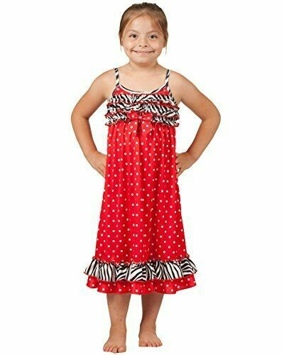 Laura Dare Red and White Polka Dot Nightgown with  Ruffle PJ Nightgown Size 2, 3         Last 3