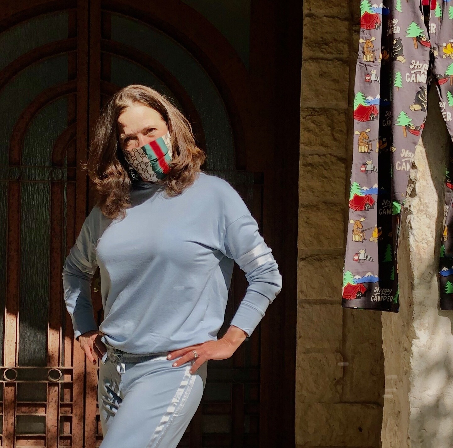 PJ Harlow Morning Blue Loungewear Destiny Hoodie Top  ONLY 1 M LEFT -   Runs LARGE