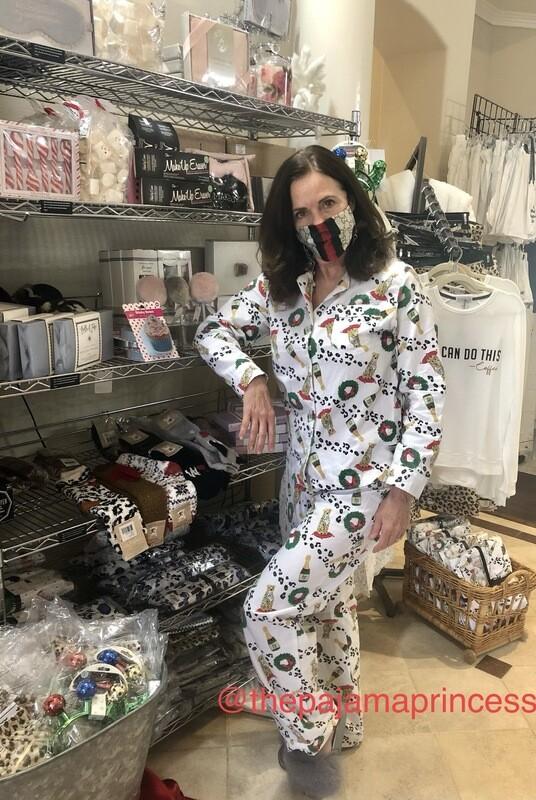 Leopards, and Bubbly Fizz Flannel Pajama PJ Set SIZE  M, L/XL