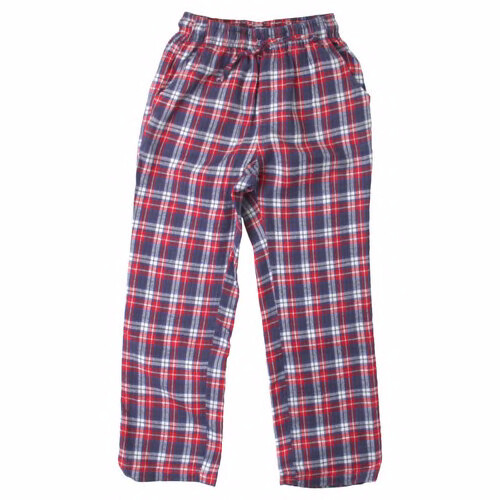 Boys Plaid Red Blue Light Flannel Pajama Lounge Pants Size 2- 16/18