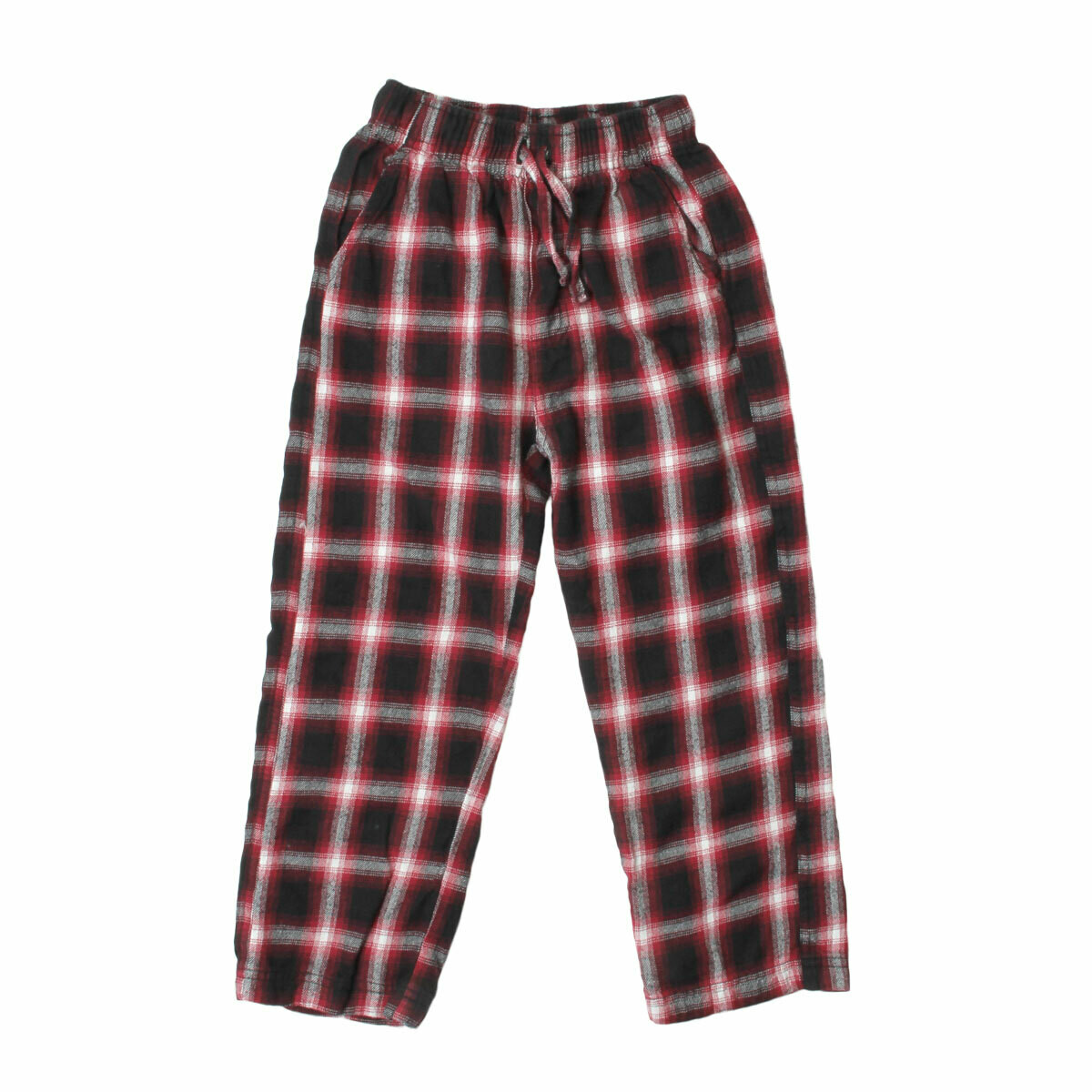 Boys Plaid Red Black Light Flannel Pajama Lounge Pants Size 2-14