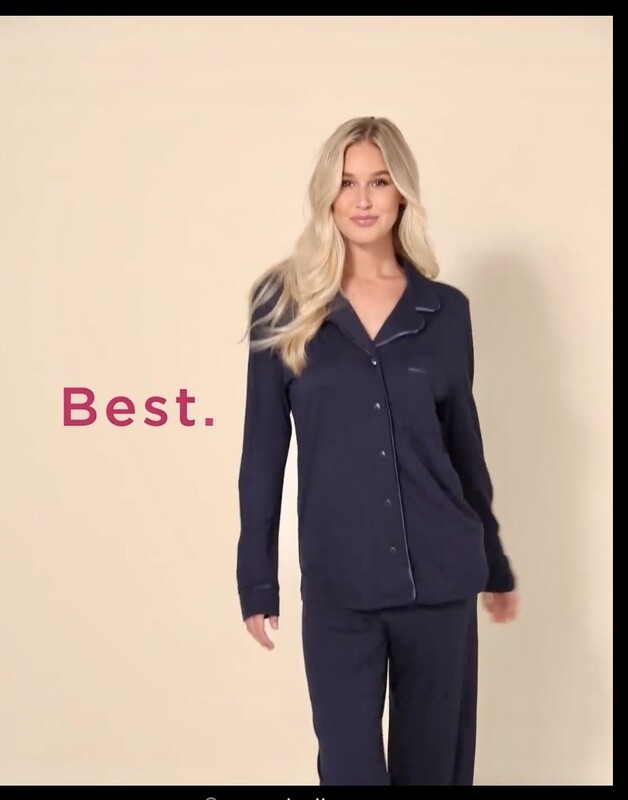 Cosabella Navy Long Sleeve Modal Pajama Pant PJ Set Size XS, S, XL