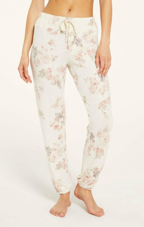 Rose Floral Lounge Jogger PJ Pant   Size  XS, M, L