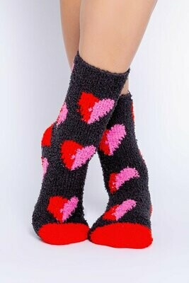 PJ Salvage Hearts Fun Nonskid Socks
