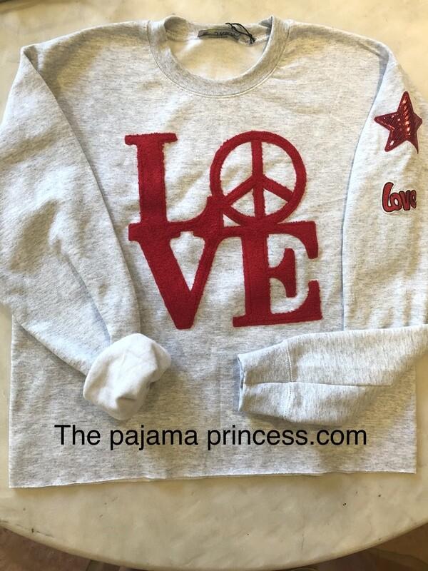 LOVE And Sequins Grey Sweatshirt