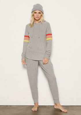 Monica Grey Striped Lounge Pant Set  Size S and M