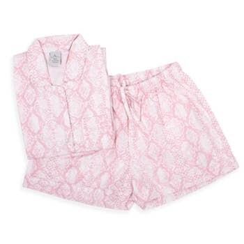 Pink Giraffe Pajama Cotton Pajama Lounge Short Set
