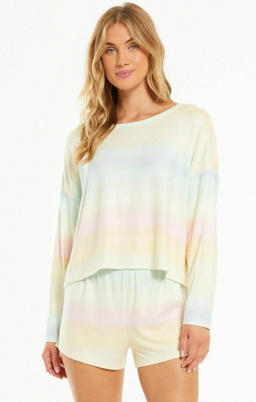 Skylar Pastel Tie Dye Lounge PJ Shirt.  Size M