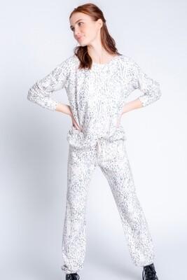 PJ Salvage Leopard Pajama Peachy Jersey Fabric Lounge Shirt