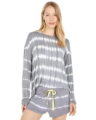 PJ Salvage Happy Days Grey Tie Dye Lounge PJ Shorts