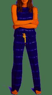 PJ Salvage Happy Days Grey Tie Dye Lounge Lounge Pants