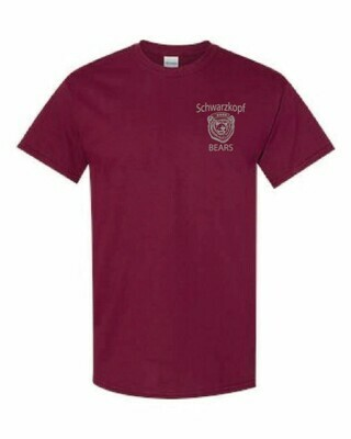 Youth Bear Logo Maroon Shirt