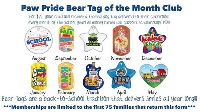 Paw Pride Bear Tag of the Month Club