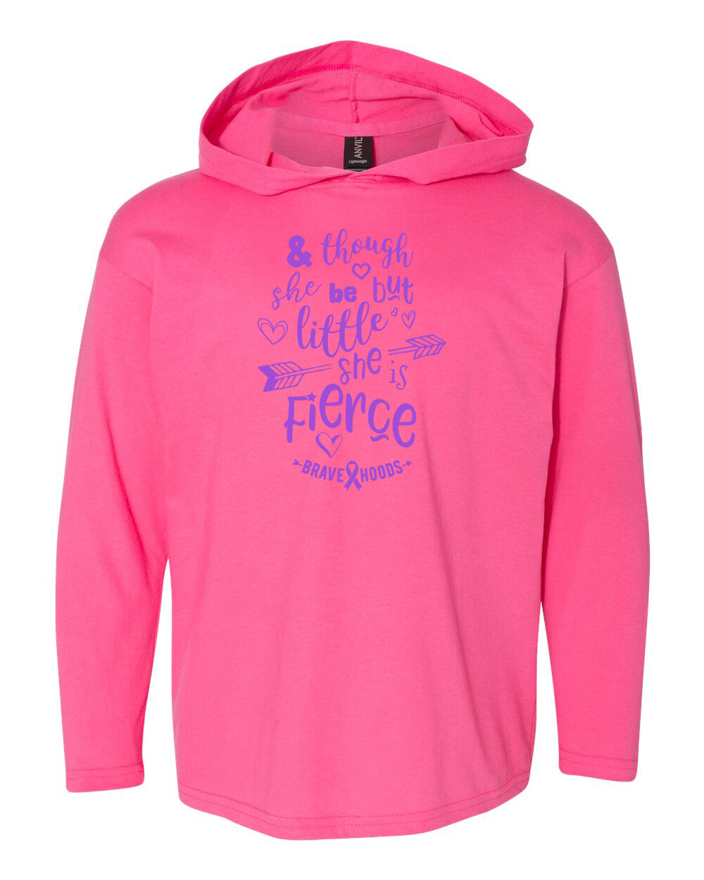 Little but Fierce Hoodie - Girls' Pullover