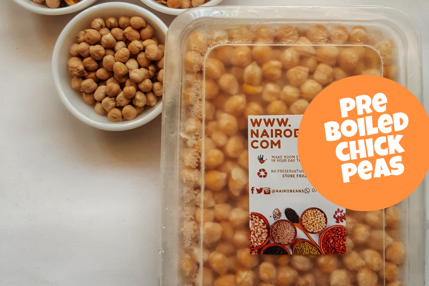 Pre Boiled Chickpeas a.k.a garbanzo beans 500g pack
