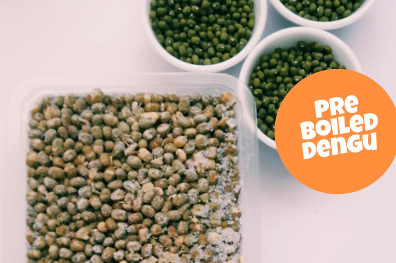 Pre Boiled Green grams a.k.a Dengu a.k.a Mung beans 500g pack