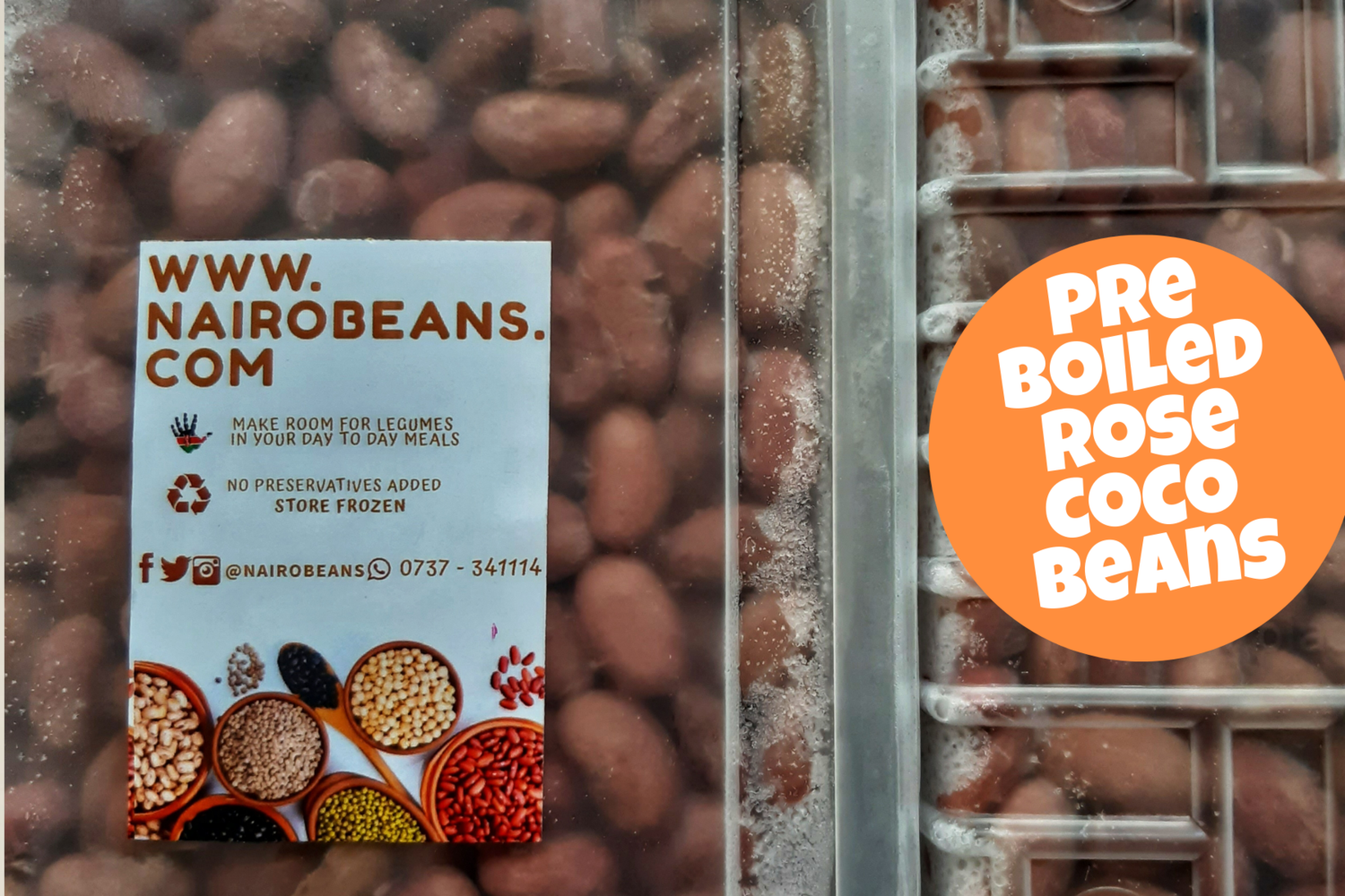 Pre Boiled Rose coco beans 500g pack