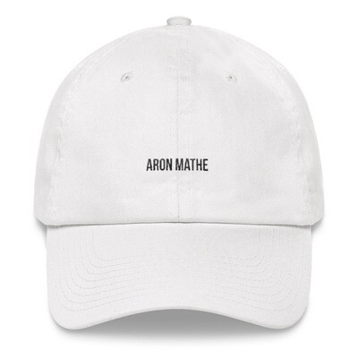 Aron Mathe Hat Simple White Limited Edition