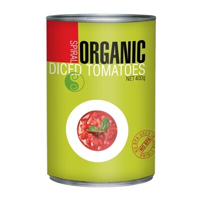 TOMATO DICED CAN ORGANIC 400G