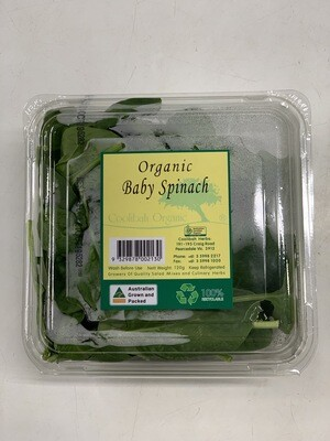 BABY SPINACH PACK ORGANIC 120G