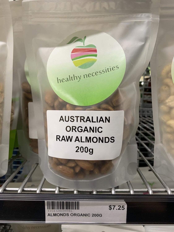 HN NUTS - ALMONDS RAW ORGANIC 200G