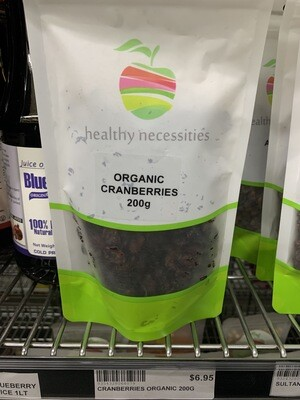 HN DRIED FRUIT - CRANBERRIES ORGANIC 200G