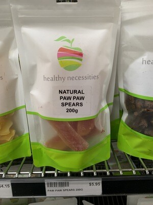HN DRIED FRUIT - PAW PAW SPEARS  200G
