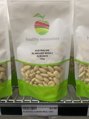 HN NUTS - ALMONDS BLANCHED WHOLE 125G