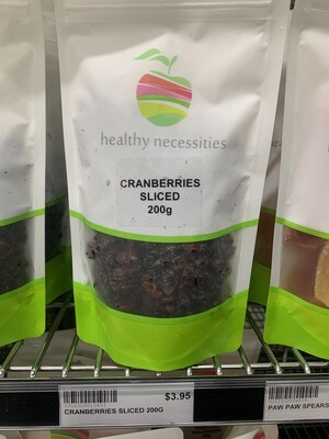 HN DRIED FRUIT - CRANBERRIES SLICED 200G
