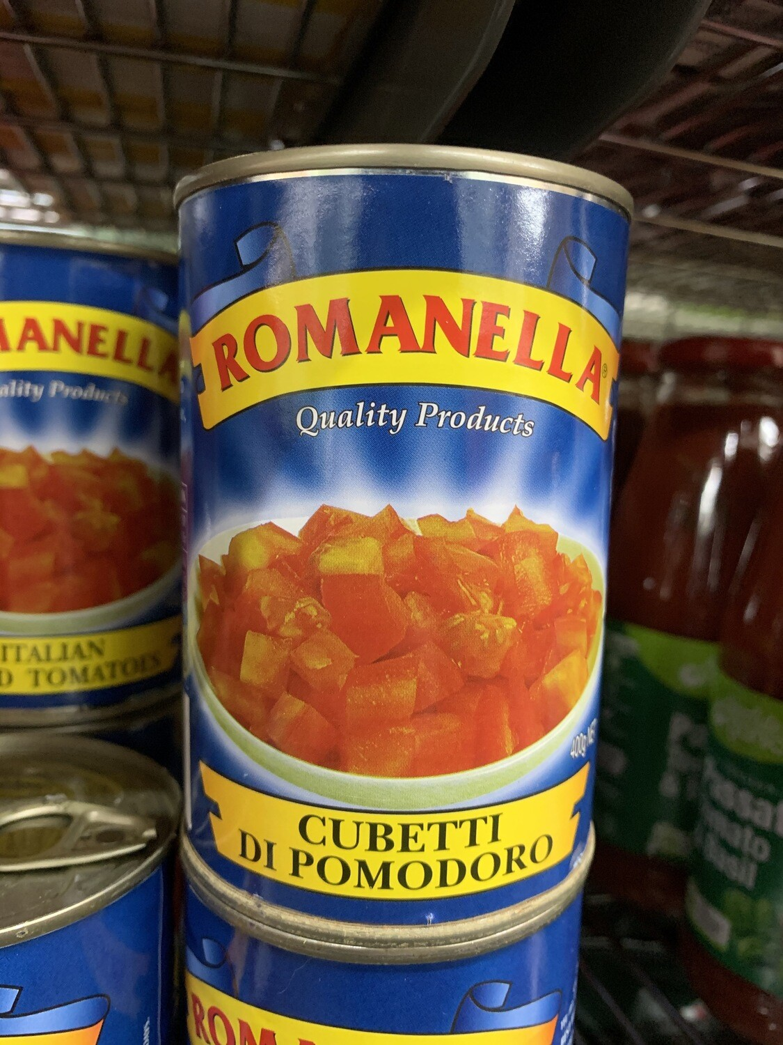 DICED TOMATOES ROMANELLA CAN 400G