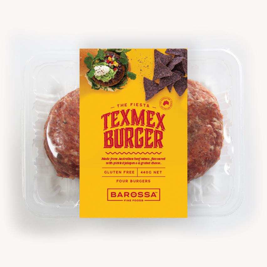 BAROSSA FINE FOODS - TEX MEX BURGER
