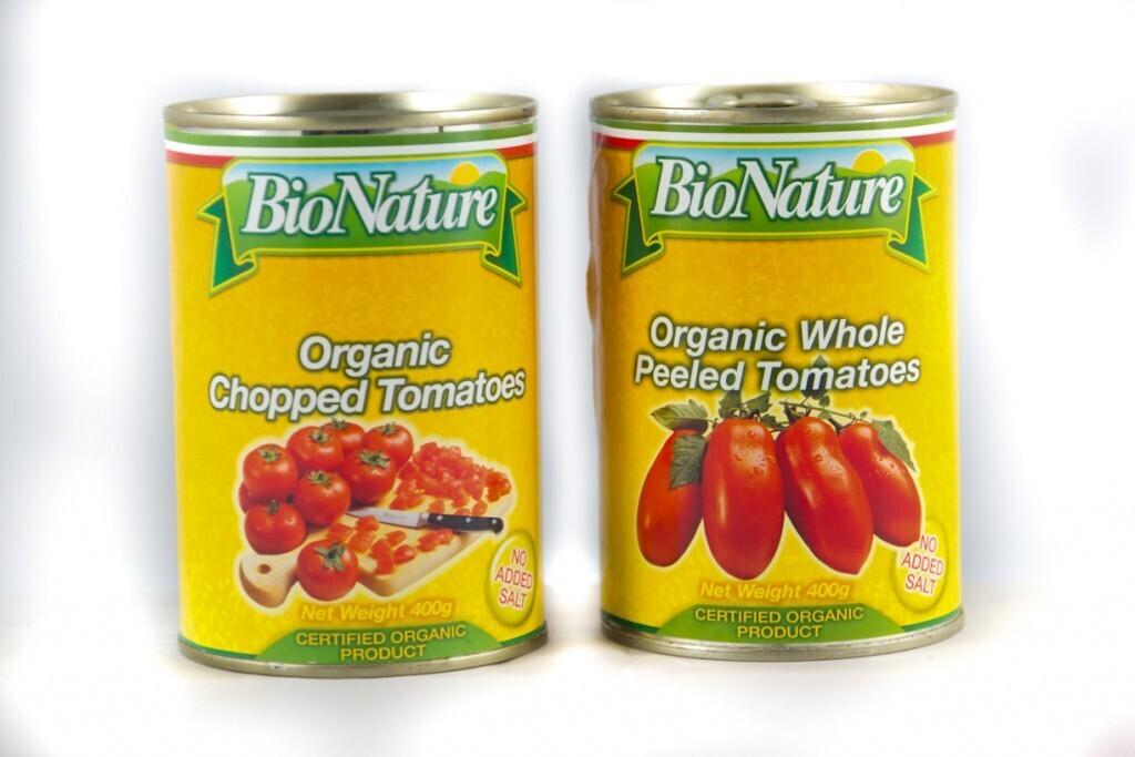 BIO NATURE ORGANIC WHOLE PEELED TOMATO