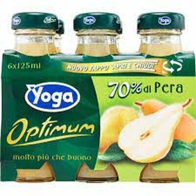 YOGA FRUIT NECTAR DRINK 6X125ML - PEAR