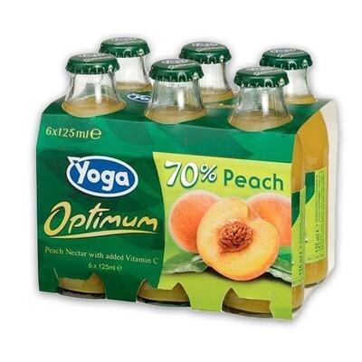 YOGA FRUIT NECTAR DRINK 6X125ML - PEACH