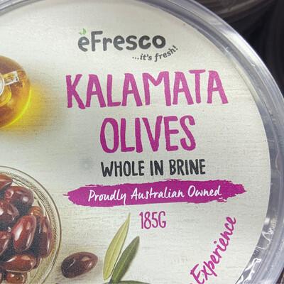 AUSFRESH ANTIPASTO - KALAMATA OLIVES WHOLE