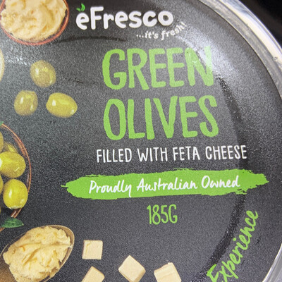 AUSFRESH ANTIPASTO - GREEN OLIVES WITH FETA CHEESE