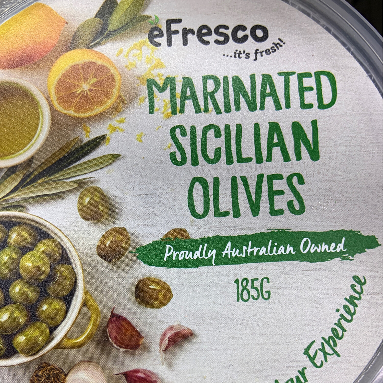 AUSFRESH ANTIPASTO - MARINATED SICILIAN OLIVES