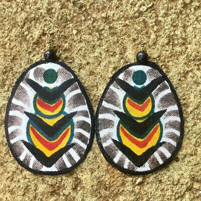 Textile Earrings - Pleasure Design