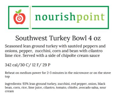 Southwest Turkey Taco Bowl 4oz