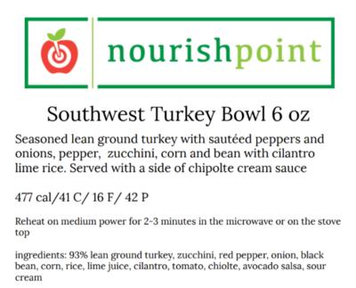 Southwest Turkey Taco Bowl 6 oz
