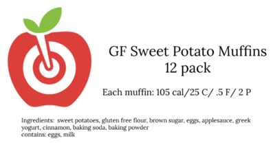 Sweet Potato Muffins for 6