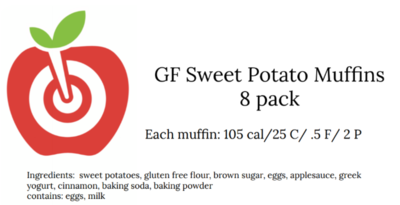 Sweet Potato Muffins for 4