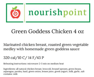 Green Goddess Chicken 4 oz