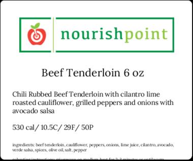 Beef Tenderloin 6oz