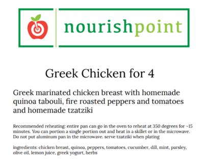 Greek Chicken for 4