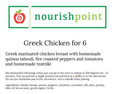 Greek Chicken for 6