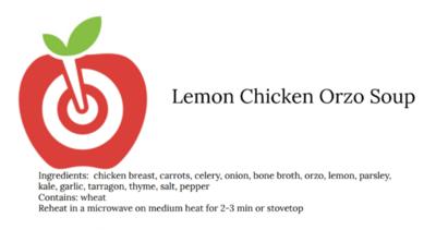 Lemon Chicken Orzo Soup 32 oz