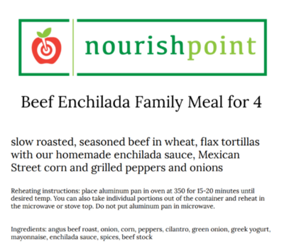 Beef Enchiladas for 4