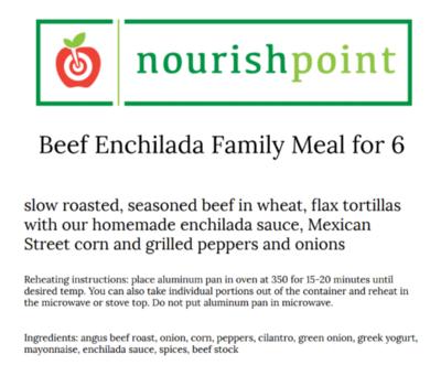 Beef Enchiladas for 6